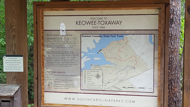 SC hiking trail map