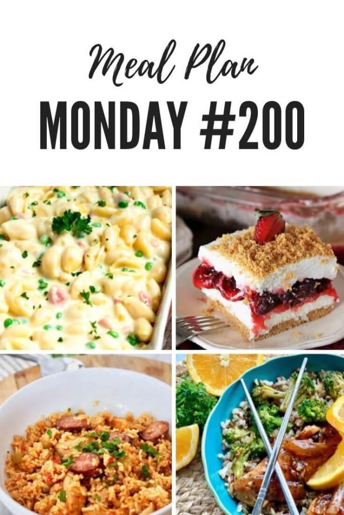 PInterest Meal Plan Monday 200