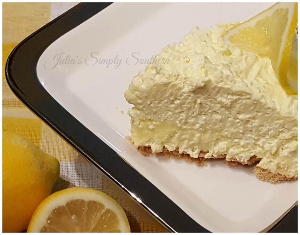 No bake icebox lemon pie