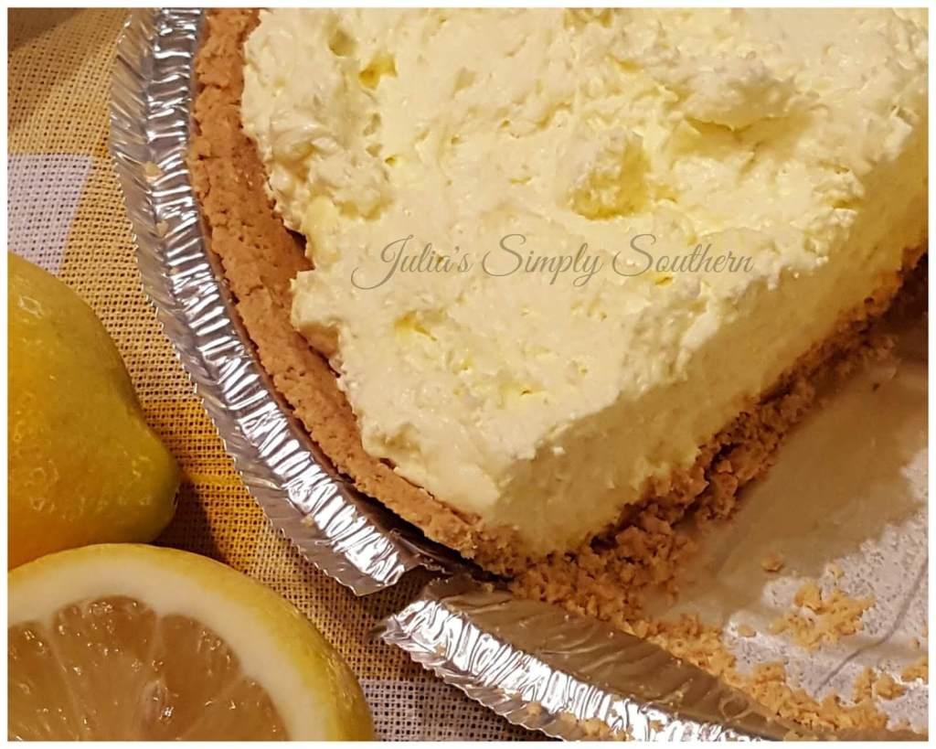 No Bake Lemon Pie - Icebox