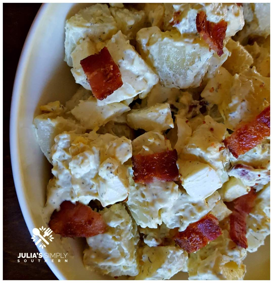 Southern Potato Salad with Bacon - short cut version