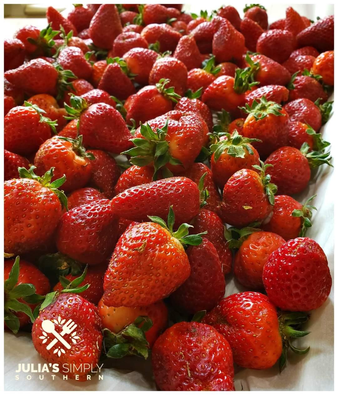 Beautiful red ripe strawberries