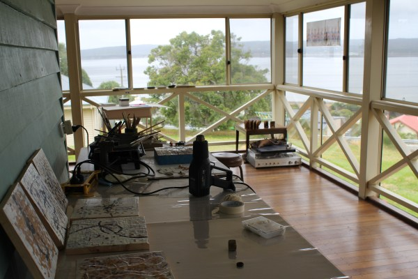 Encaustic Residency And Exhibition Vancouver Art Centre Albany Western Australia. Julia Sutton