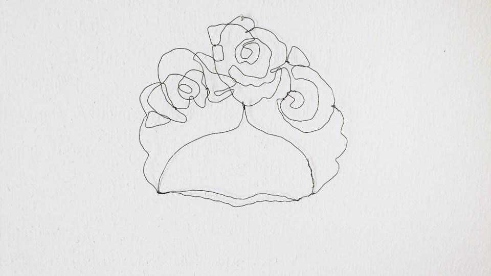 DIY Drahtbild Frida Kahlo (5)