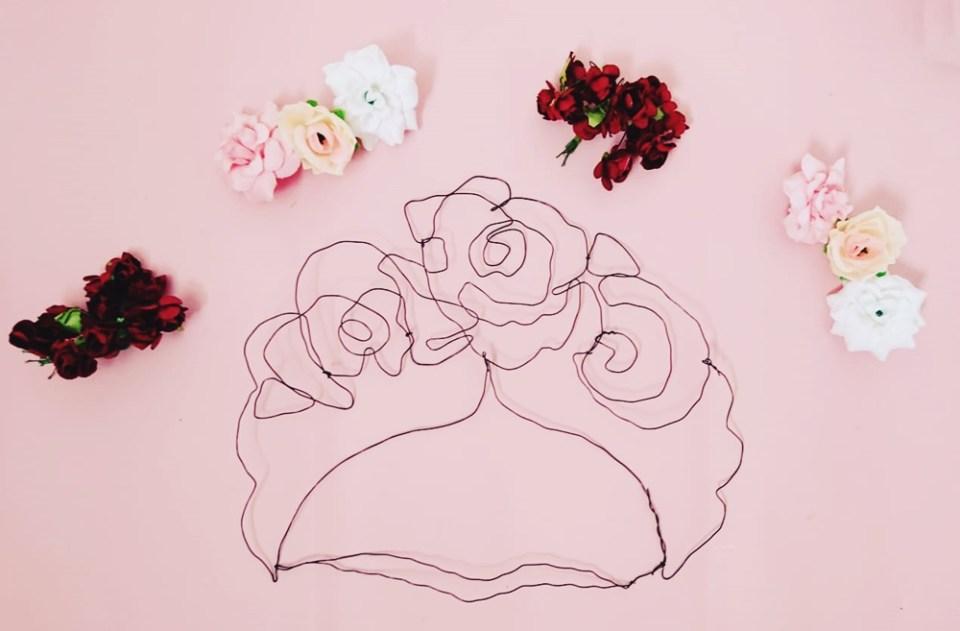 DIY Drahtbild Frida Kahlo (6)