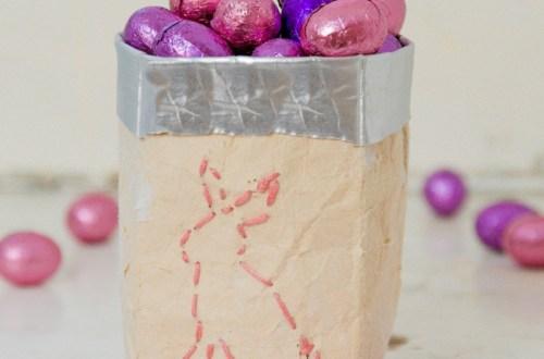 Milchtüten Upcycling - DIY für süße Osternest Ideen - Tetra Pak upycling idee ostern, basteln für ostern mit kindern, DIY Osternest Idee, Osternest basteln aus Tetra Pak