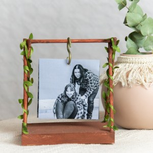 DIY Fotoschaukel Mini Holzschaukel mit Foto 2 Menschen