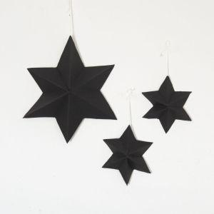 3 3D Sterne in schwarz