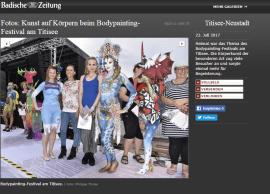Juli 2017 2. Platz Schwarzwald Bodypainting Wettbewerb