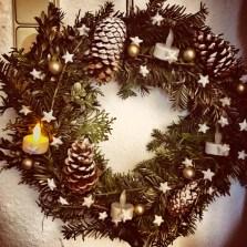 selfmade xmas wreath