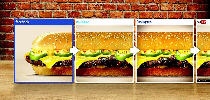 Burger King : un burger tellement long qu'il est relayé sur tous ses réseaux sociaux