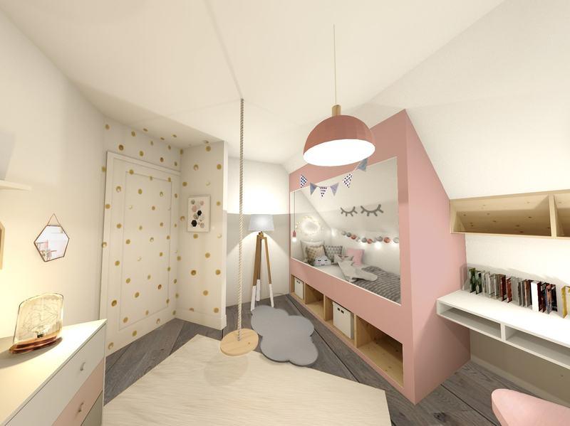 Chambre d'enfant - petite fille - esprit cabane