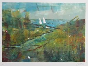 Dark and Stormy monoprint - Julie Turner