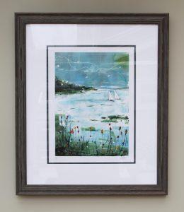 Summer Breeze Monoprint by Julie Turner