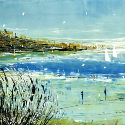 Close to Shore Monoprint