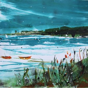Snow on the harbour giclee