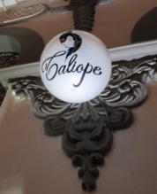 the street sign for calliope