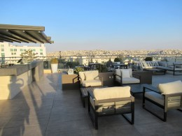 the roof top bar