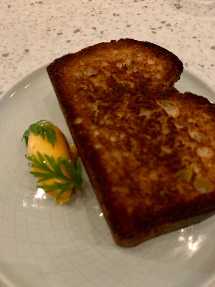 sourdough brioche with carrot butter