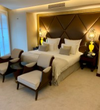 one of the spacious bedrooms