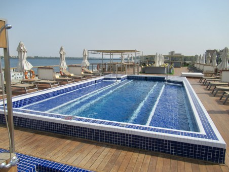 the deck pool on the Oberoi Philae