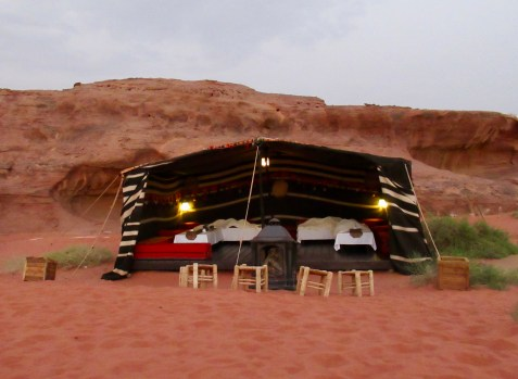 the traditional dining tent