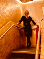 the golden staircase on the way to Akira Back