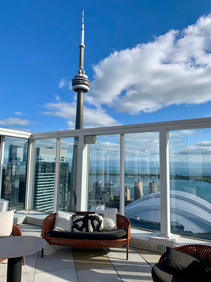 view from the roof at the Bisha Hotel