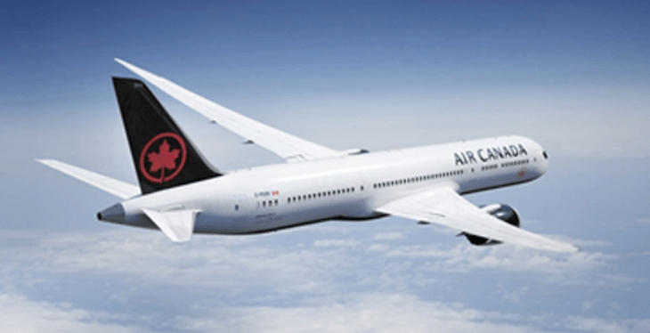 air canada is flying to europe