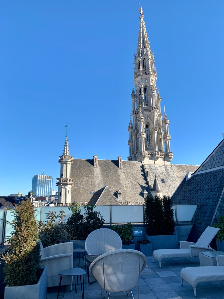 view from the Armand Blaton Suite, Hotel Amigo, Brussels