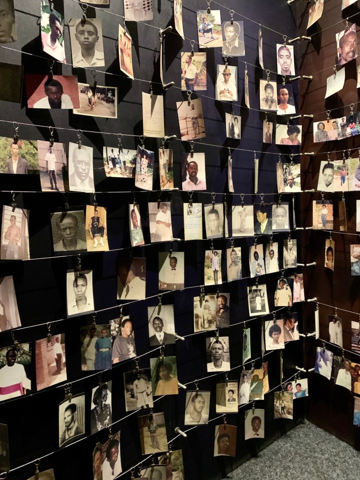 Photos of victims of the genocide