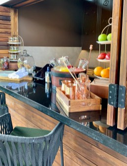 the spa bar at Gorilla's Nest, Rwanda