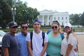 Us in front of the White House