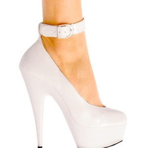White Patent Leather 6 inch heels by Karo 0042