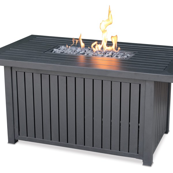 LP GAS OUTDOOR FIRE TABLE WITH ALUMINUM MANTEL GAD17101SP