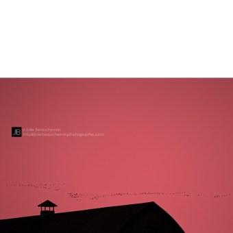 Et le soleil se coucha. Comme dans une BD © Julie Beauchemin