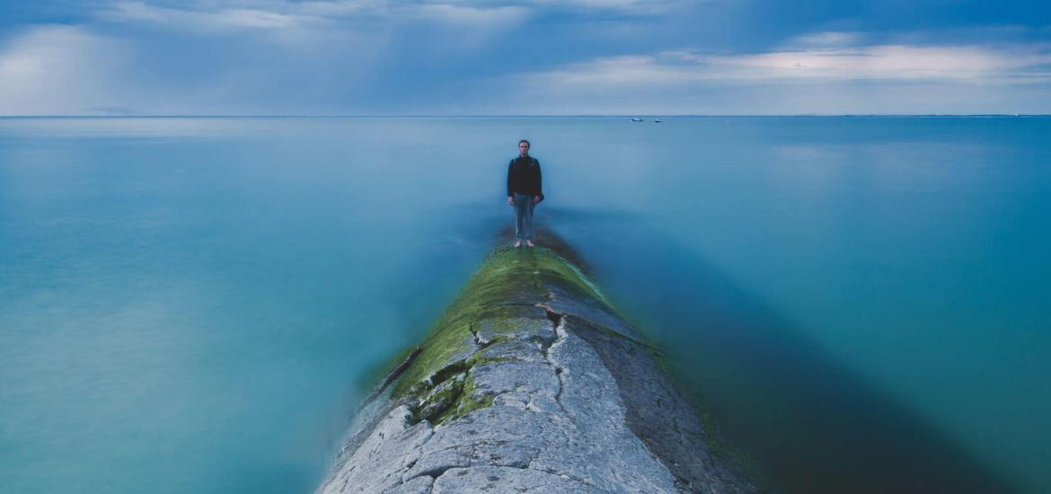 alone on a breakwater