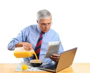 Man pouring orange juice
