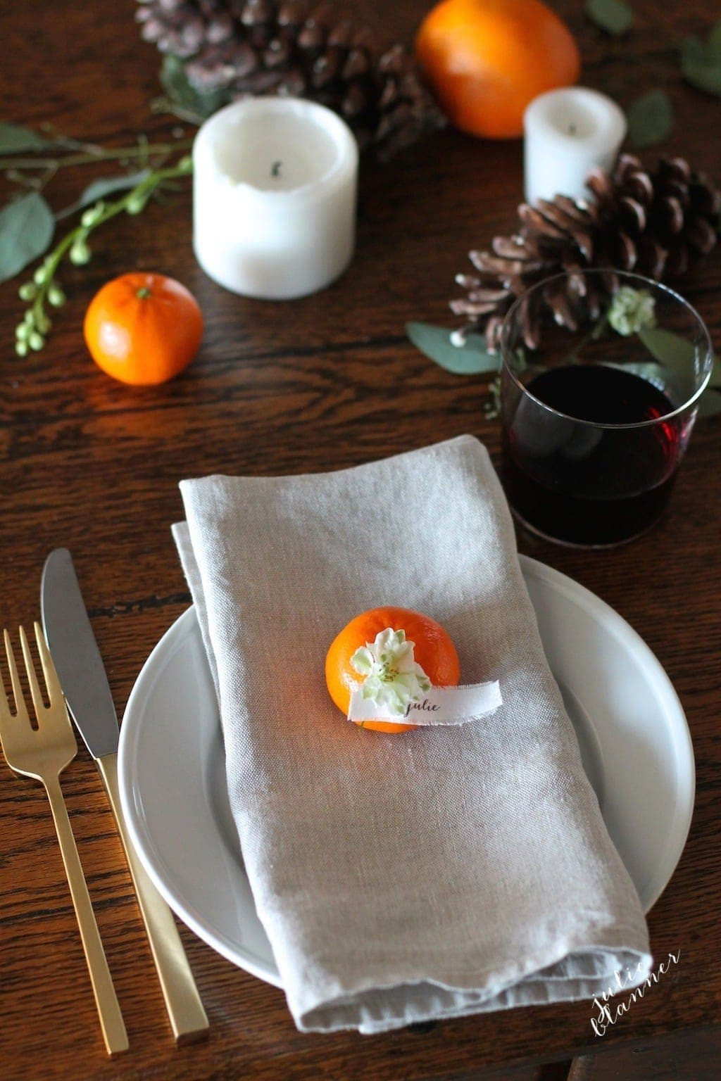 5 Minute Fall Table  DIY Floral Table Runner