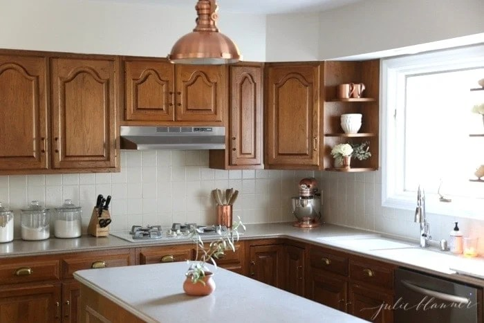 refinishing kitchen countertops rv cabinets a simple makeover without paint