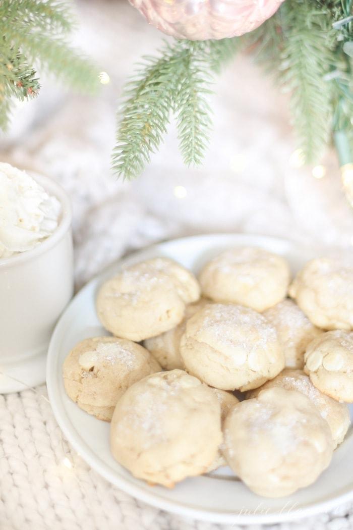 White Christmas Cookies White Chocolate Sugar Cookies