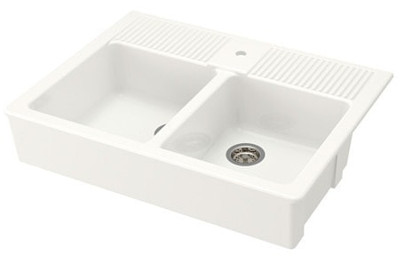 Apron Front Farmhouse Sink Options Including Fireclay And