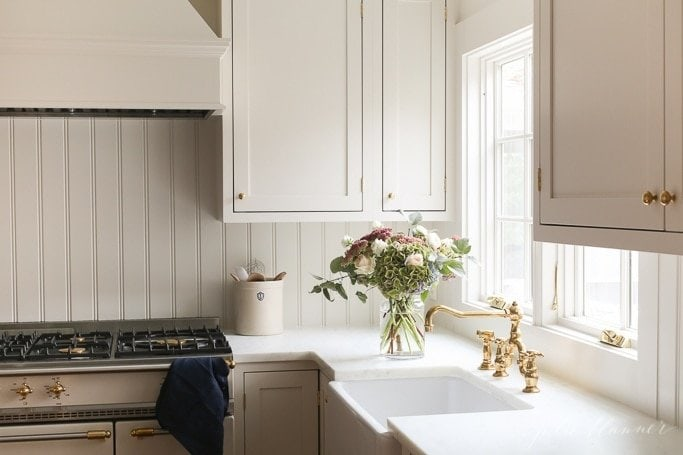 brass kitchen sink repaint cabinets unlacquered faucet aka living finish a that ages with time or can be polished