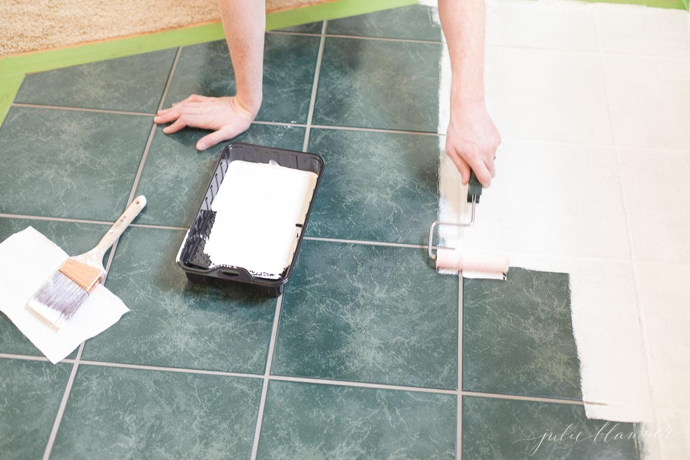 to paint ceramic tile with tile paint
