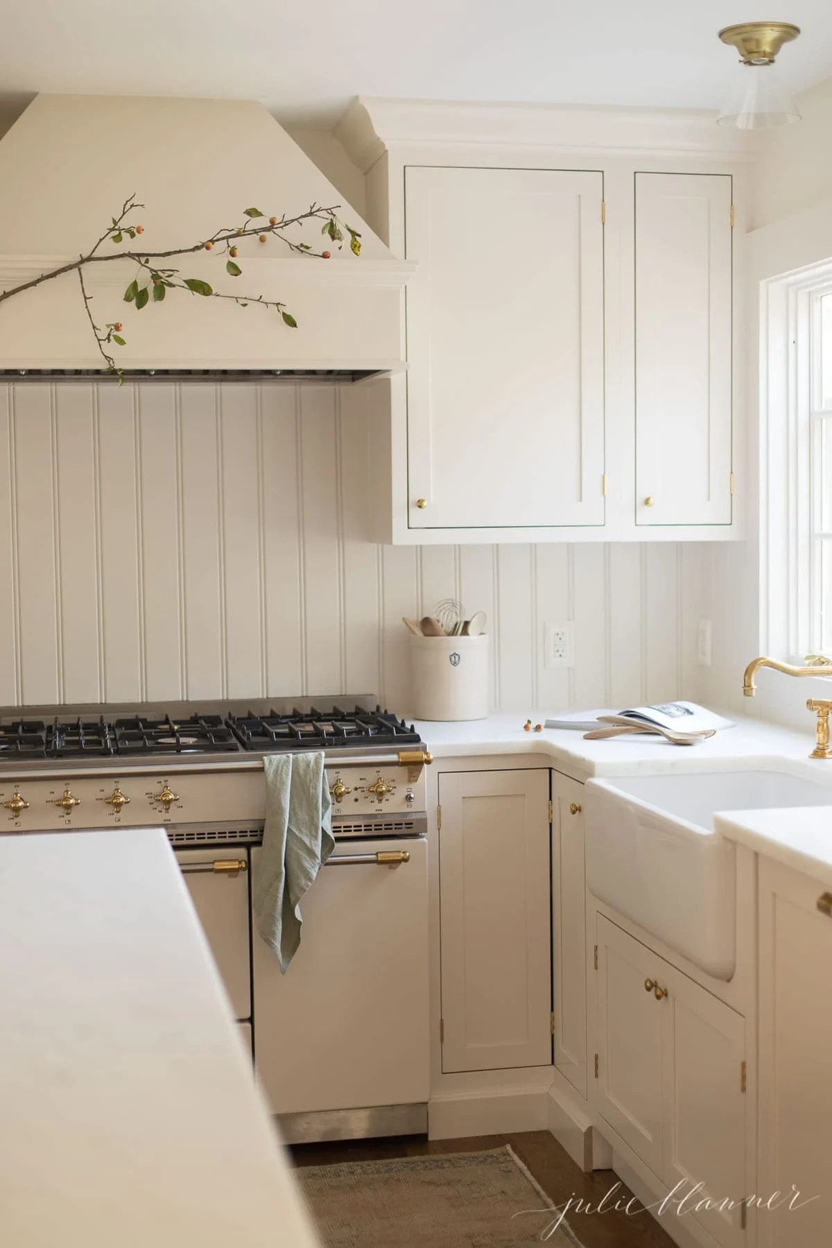 fall kitchen decor white bench decorating with branches