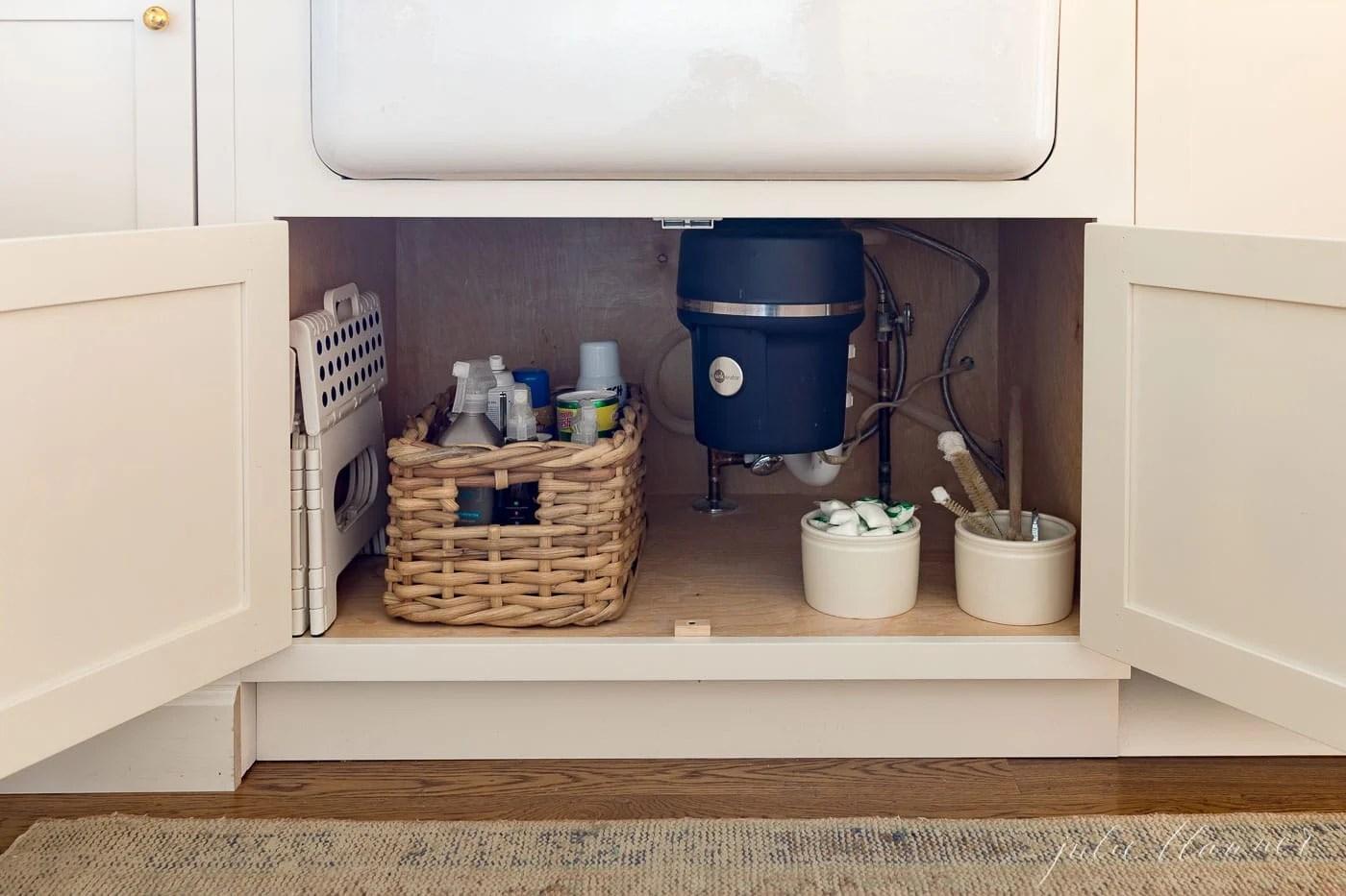 under sink storage ideas tips to