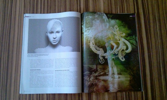 Julie's digital compositing in an article with bodywork of Birgit Mörtl