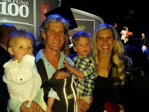 My mentor Leanne, and her husband Ric, and their three beautiful boys