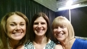 One of my favorite people in the world, Dr. Libby Weaver with Karen & I backstage