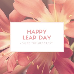 HappyLeap Day, julie boyer, the grateful entrepreneur
